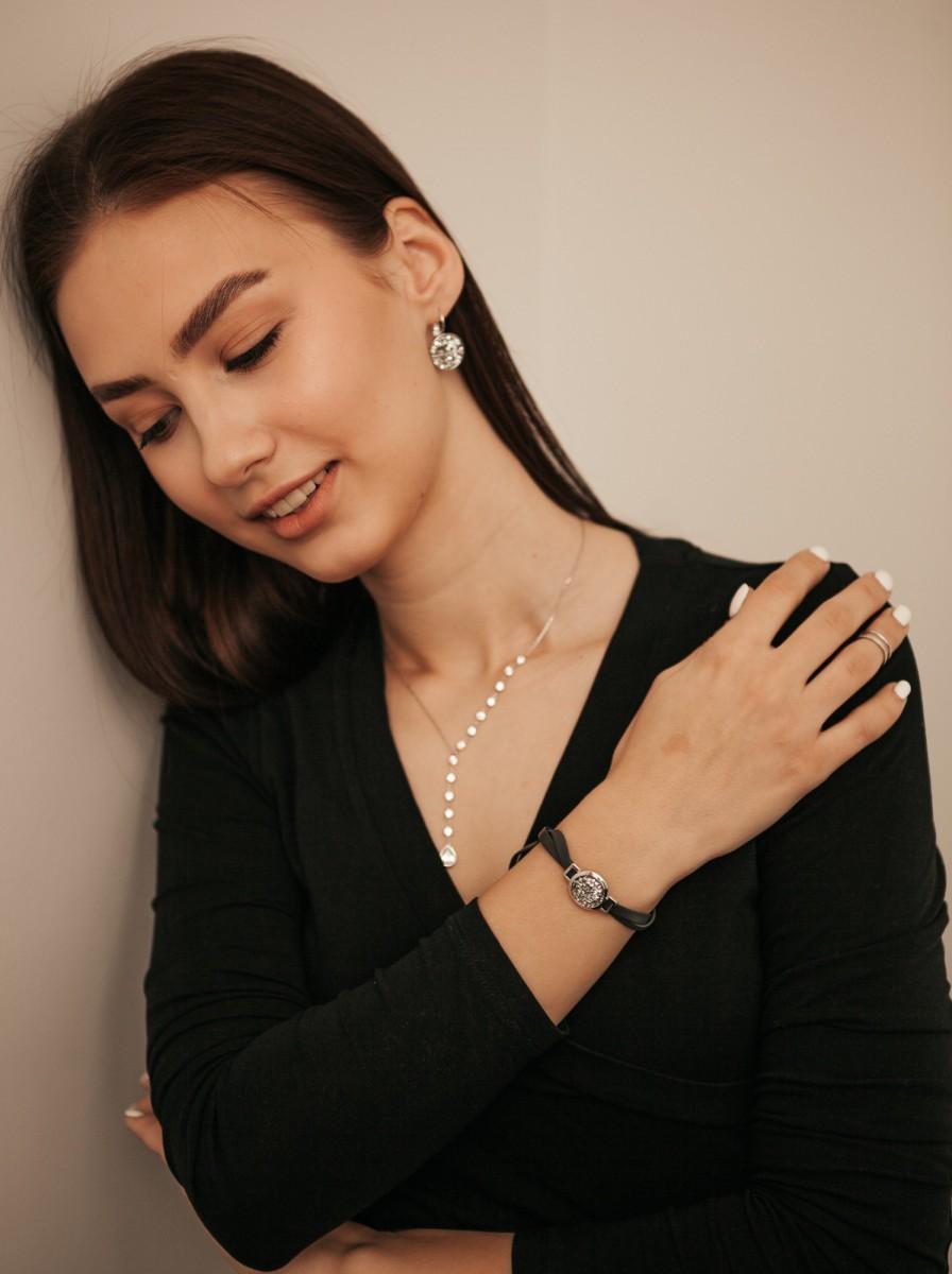 Браслет с кристаллами Swarovski Crystal Fiore Luna