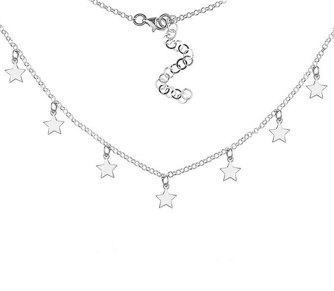 Колье из серебра Звезды
