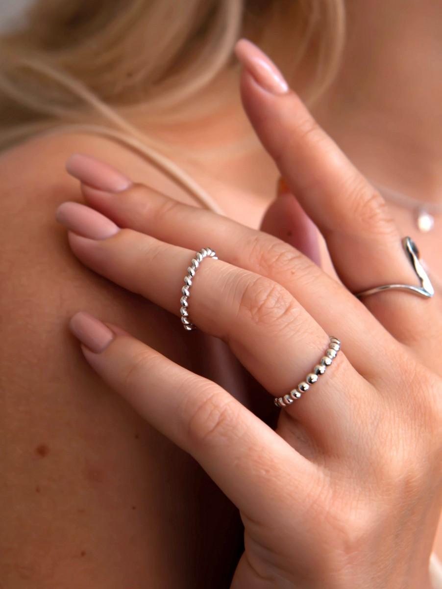 Кольцо из крученого серебра на фалангу