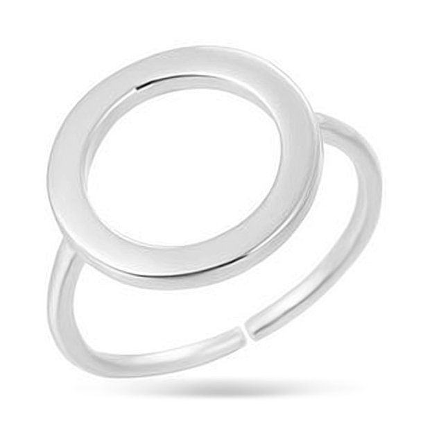 Кольцо из серебра Круг