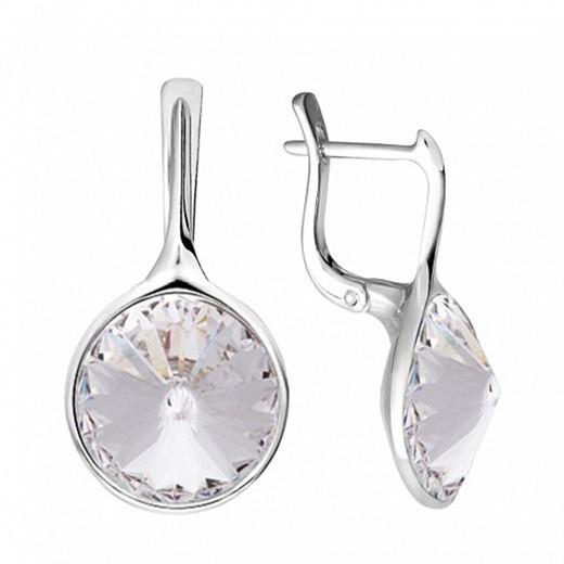 Серьги из серебра с кристаллами Swarovski® Crystal